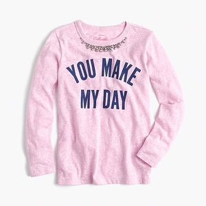 Crewcuts long sleeve tee shirt with stones